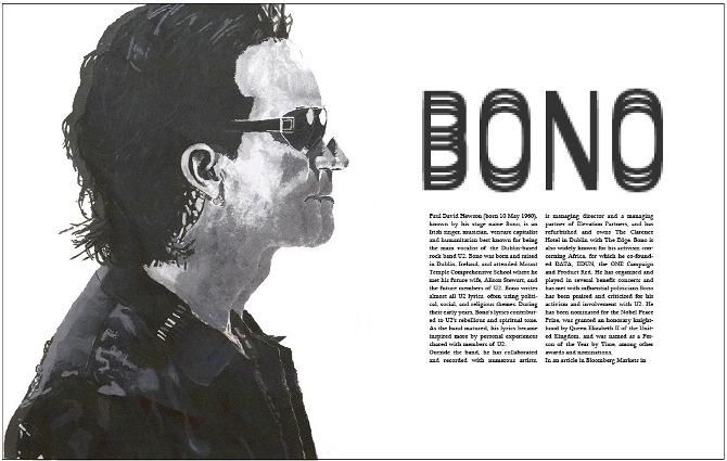 Bono Magazine Article Layout - Portfolio