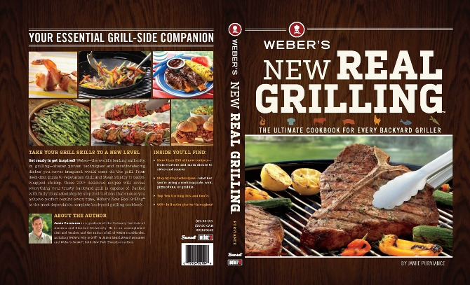 Cook Book Back Cover : Weber s new real grilling™ cookbook campaign freelance