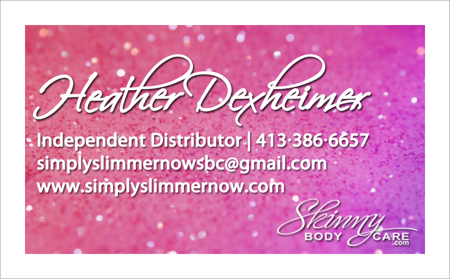 Skinny Fiber Independent Distributor Business Card - Elizabeth ...